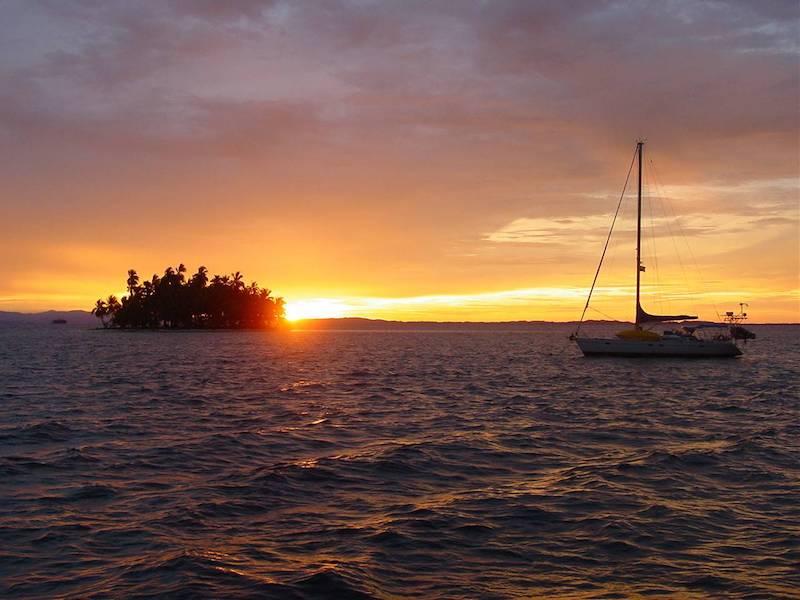 Panamatour Sunset am Pazifik
